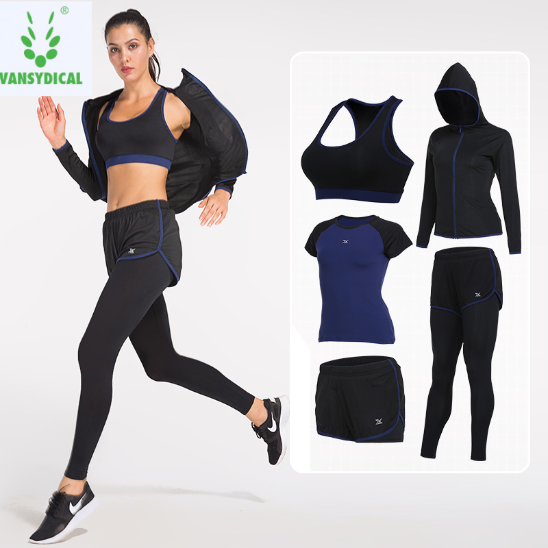 436b307388826f Detail Feedback Questions about Vansydical 2019 Sports Suits Women's Gym  Yoga Set Running Tights Sportswear Quick Dry Fitness Workout Clothes  Jogging Suits ...