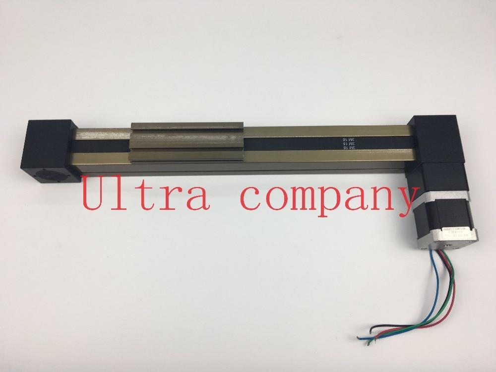 MF 3M Timing Belt Effective Stroke Length 500mm Linear Slide Module Guide Sliding Rail Systems +57 Nema 23 Stepper Motor CNC belt driven linear slide long travel