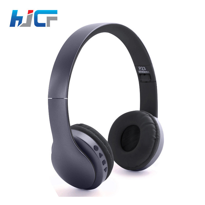 Brand HJCF Wireless Headphones Bluetooth Headset Stereo Earphone Headphone With Microphone For PC Mobile Phone Music P23 magift bluetooth headphones wireless wired headset with microphone for sports mobile phone laptop free russia local delivery hot