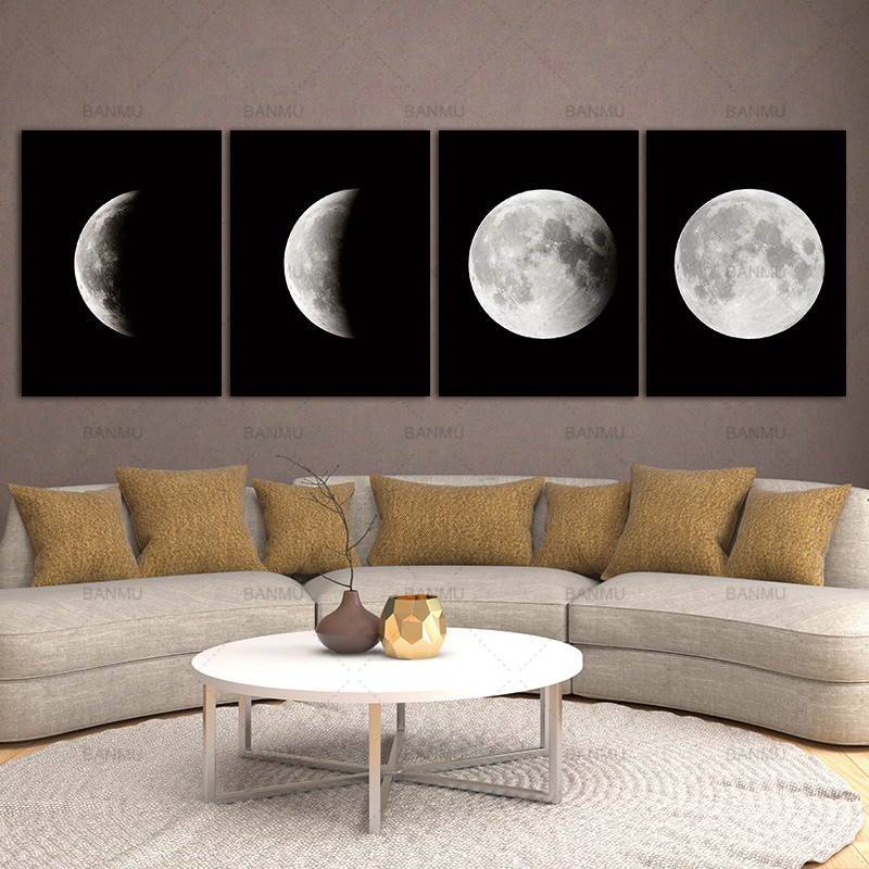 Modern Abstract Space Paintings on Canvas Wall Decor Canvas s