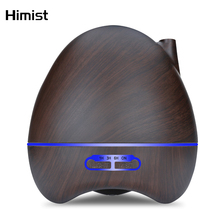300ml Ultrasonic Aromatherapy Humidifier Mist Maker Fogger with LED Light Wood Grain Aroma Essential Oil Diffuser for Home Spa цена и фото