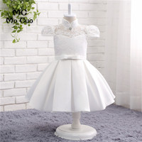2017 Princess Flower Girl Dresses Flowers Bow Cap Sleeves Zipper Wedding Pageant First Communion Dresses For