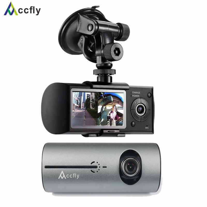 Accfly R300 car dvr dvrs dash cam camera registrator gps navigator Dual Lens car camera recorder blackbox Motion Detection
