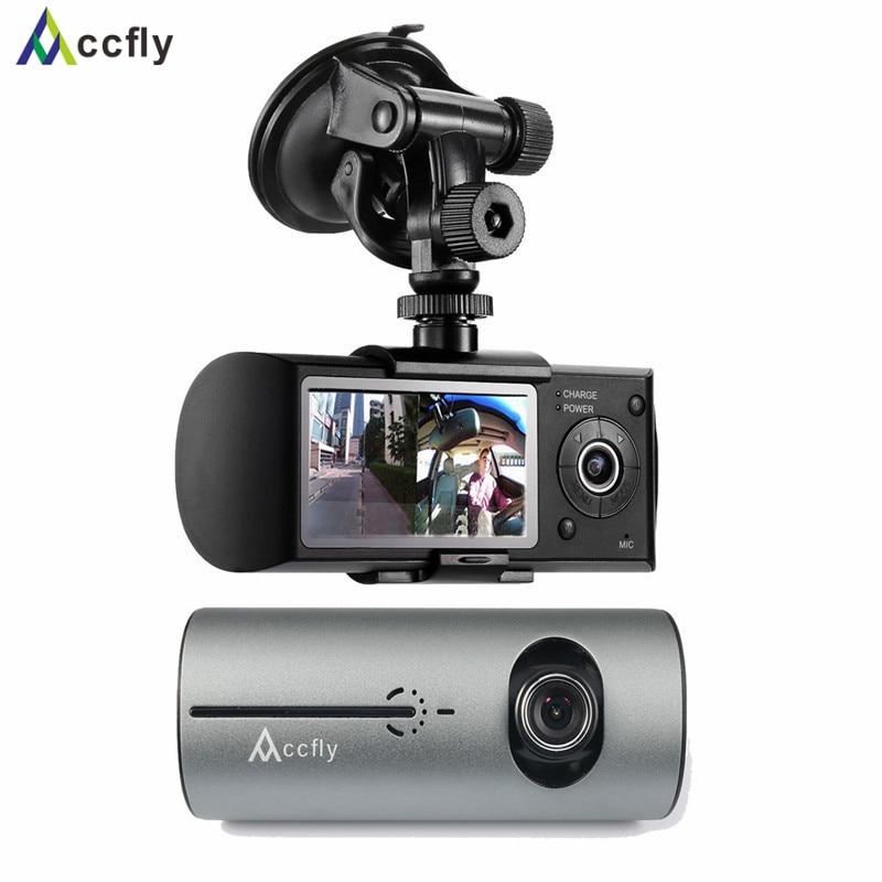 Accfly R300 car dvr dvrs dash cam camera registrator gps navigator Dual Lens car camera recorder blackbox Motion Detection