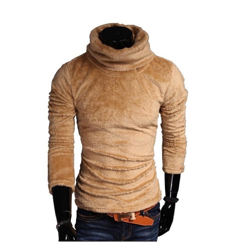 Velvet Fleece Sweater Pullover 2018 Autumn Mens /Women Winter Male Turtleneck Sweaters Knitted Turtle Neck Pullovers Tops 3xl