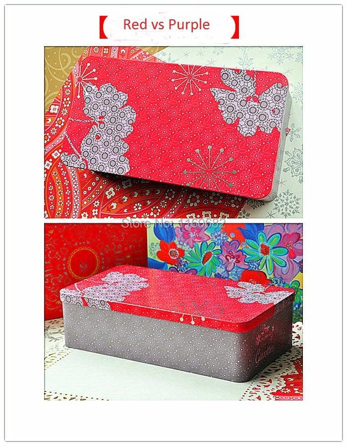 25 * 14 * 7cm ορθογώνιο Μεγάλο μεταλλικό κουτί αποθήκευσης / κοσμήματα κουτί / κουτί καραμέλα / κουτί δώρου