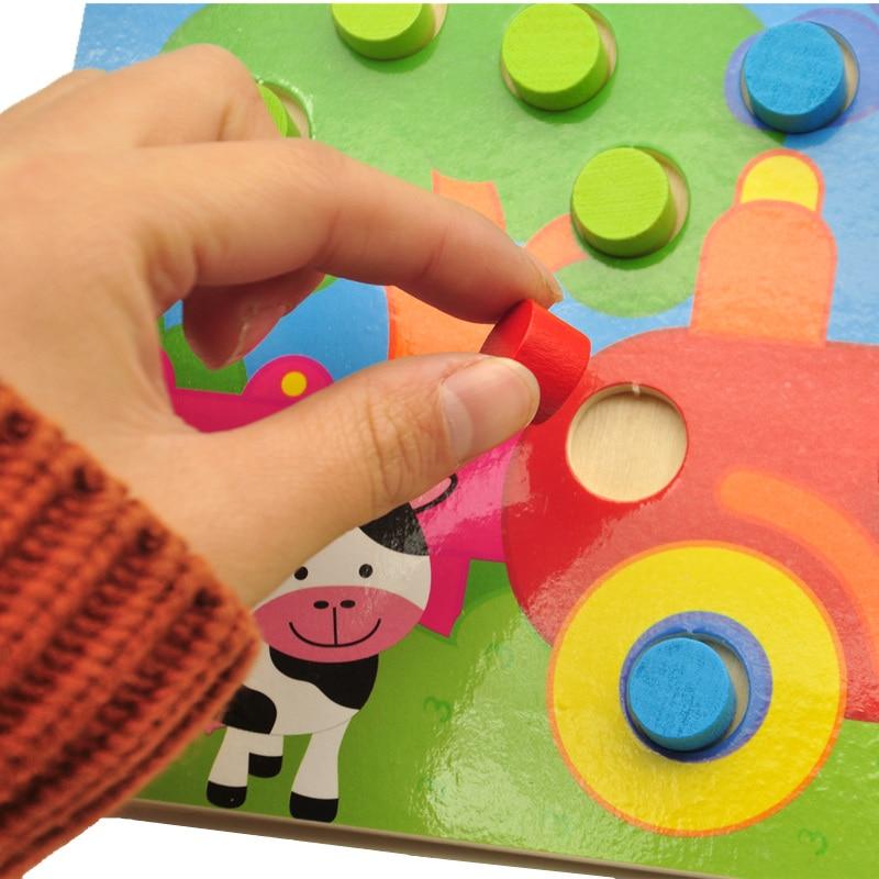 Träleksaker Tangram / Jigsaw Board Cartoon Puzzle Jigsaw Kids Early - Spel och pussel - Foto 2