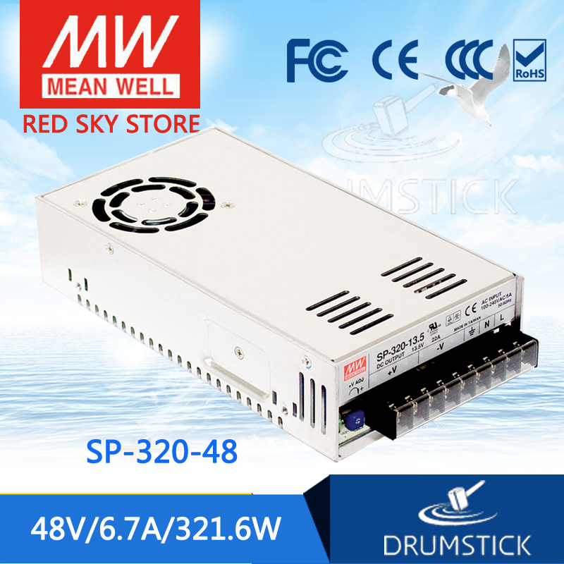 (12.12)MEAN WELL SP-320-48 48V 6.7A meanwell SP-320 48V 321.6W Single Output with PFC Function Power Supply leading products mean well sp 320 27 27v 11 7a meanwell sp 320 27v 315 9w single output with pfc function power supply