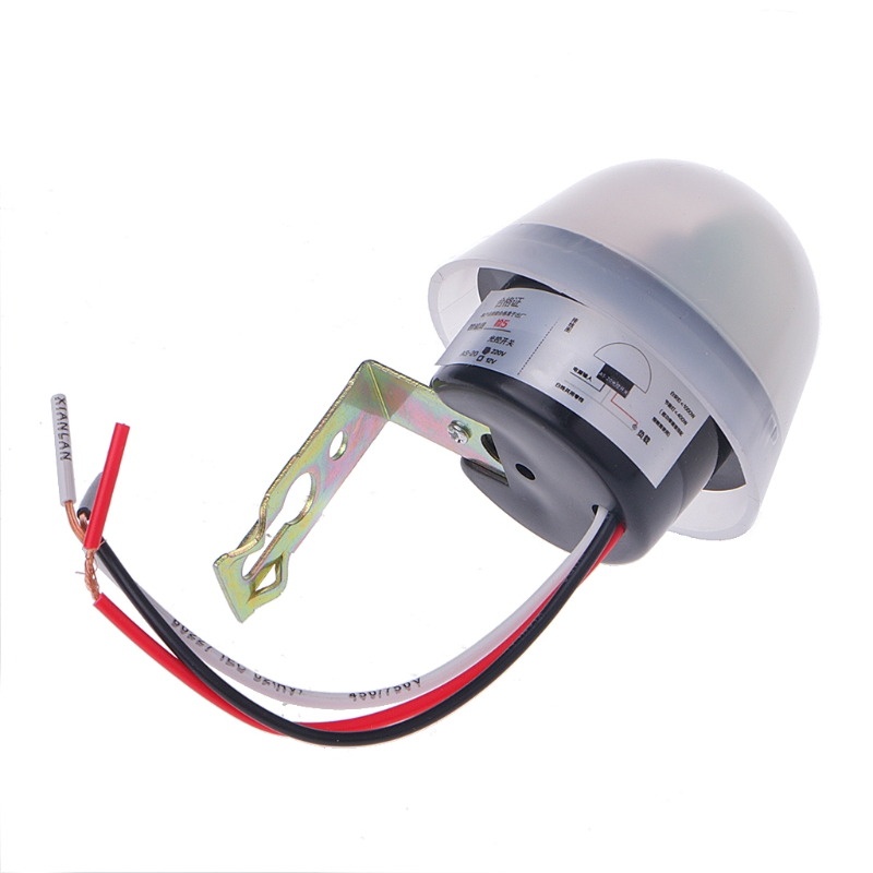New Automatic Auto On Off Photocell Street Light Switch DC AC 220V 10A Sensor Switch Dro ...