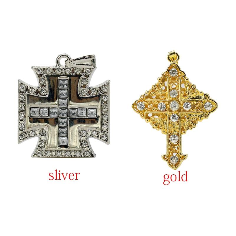 New Arrival Luxury Jesus Cross USB font b Diamond b font Metal material 4GB 8GB 16GB