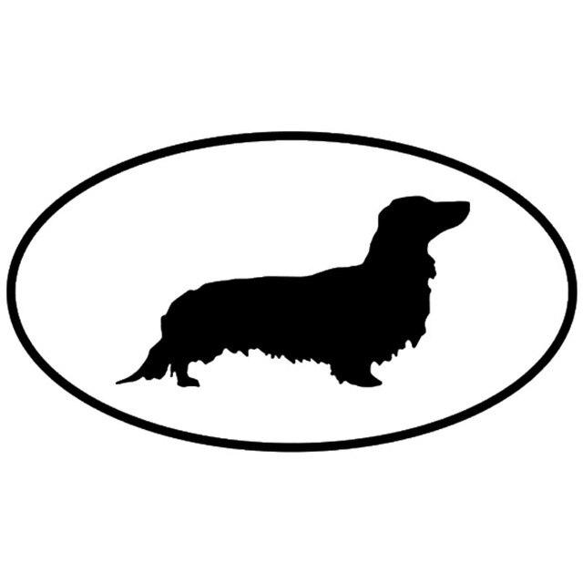14 8 8 2cm dachshund long haired dog car stickers creative vinyl