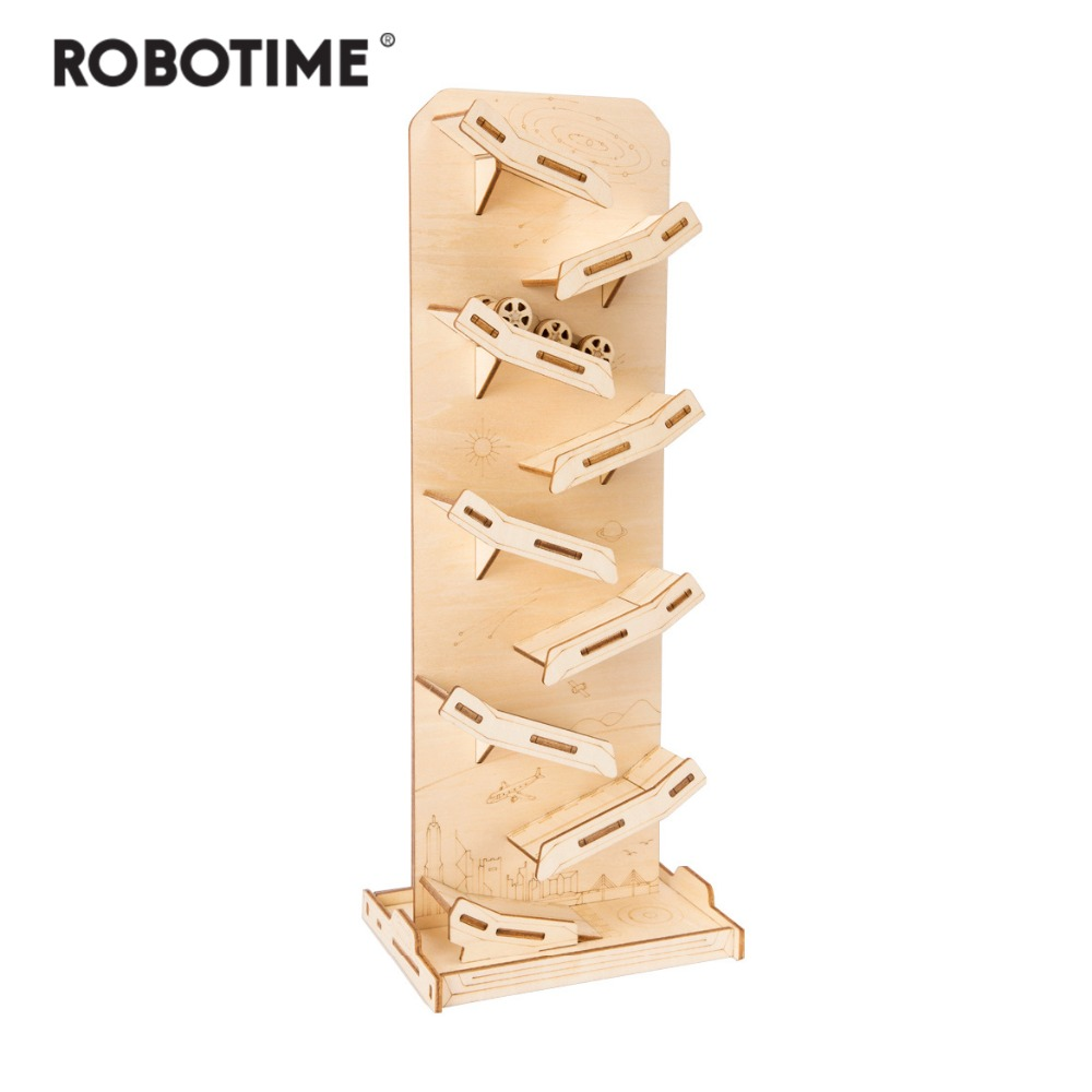 Robotime Children Adult Interesting Space Tank Stress Relief Toy DIY Wooden Novelty Gag Toy Sports & Entertainment LP402