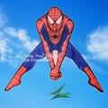 O envio gratuito de alta qualidade spiderman pipa com 100 m linha pega as crianças adoram brinquedos ao ar livre voando fácil pipa tecido ripstop hcx