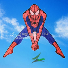 free shipping high quality spiderman kite with 100m handle line children love outdoor flying toys easy