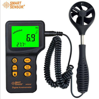 Anemómetro Digital de mano con medidor de velocidad del viento de temperatura rango de medición 0 3-45 m/s
