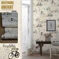 vintage bicycle  wallpaper for wall roll 10m waterproof washable wall paper for boy room papel de parede infantil de menina