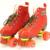 Invierno de Las Muchachas de Las Señoras de Las Mujeres Botas de Patines Patín Quad Doble Línea de Dos Líneas de 4 Ruedas de Patinaje sobre ruedas Patines Patins zapatos