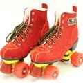 Meninas de inverno Das Senhoras das Mulheres Patins Quad Skate Botas Linha de Duas Linhas de 4 Rodas de Patinagem de Rolo Duplo Patins Patines sapatos