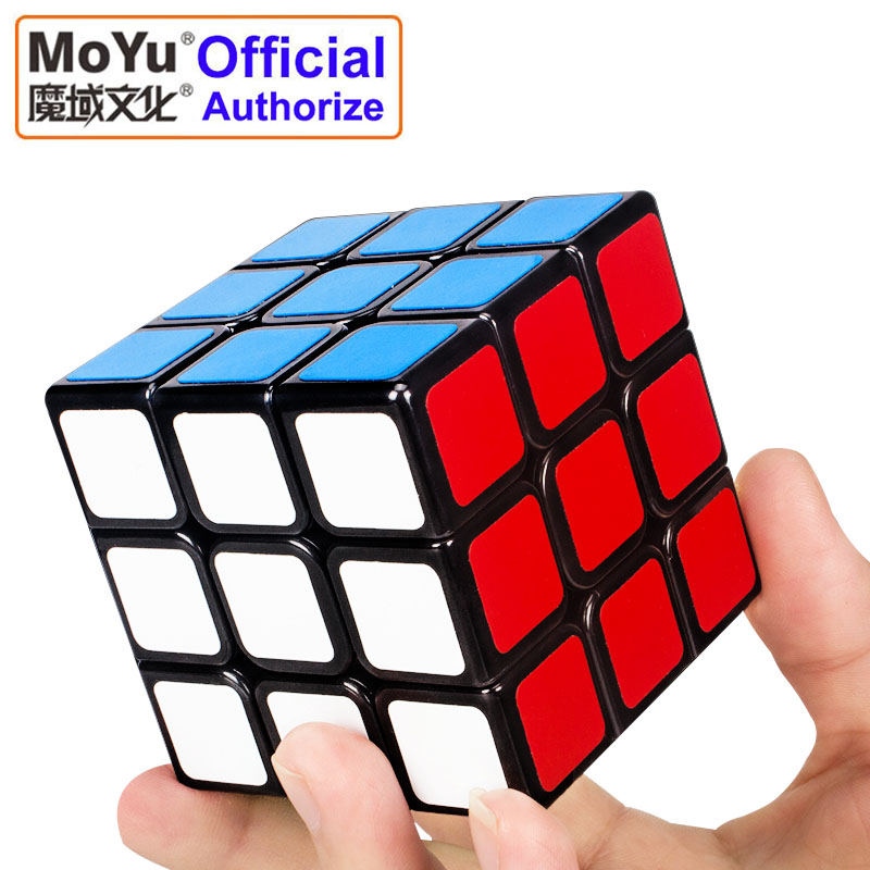 MOYU 3x3x3 Magic Cube PVC Sticker Rotating Smooth Speed Cube Classic Toys For Children Educational Puzzle Cubo Magico MF3SET