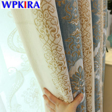 Blackout curtains bedroom Chenille Curtain Textile Window Curtain Living Room Europe Thick Luxurious Bedroom Curtains HC019-30
