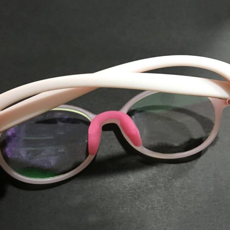 U Shape Anti-Slip Nose Pad Silicone Stick On Pad Eyeglass Sunglasses Eye Glasses Accessories 10 Colors