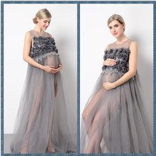 2017 Maternity Mama Gown Transparent Maternity Dresses Studio Photo Shoot Clothes Maternity Photography Props For Pregnant Women