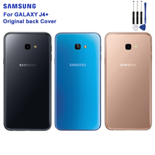 Original SAMSUNG Transparent Battery Cover For Samsung Galaxy J4+ J4 +Back Case Phone Backshell