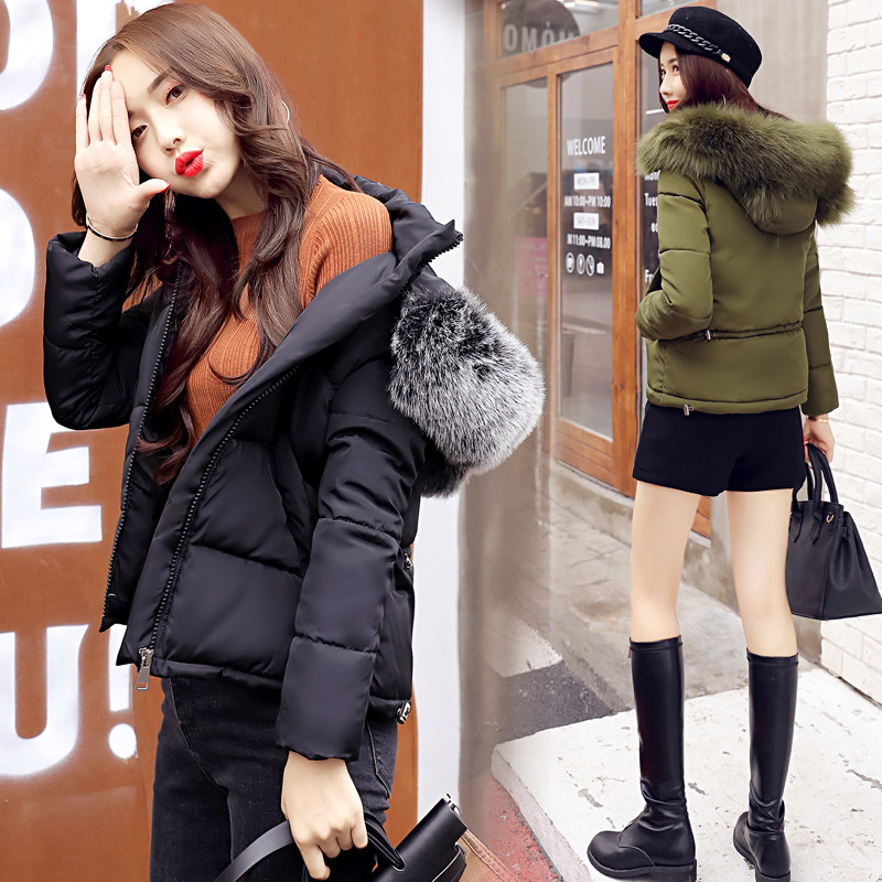 Winter Women Fur Collar Coat Maternity Jacket Hooded Zipper Cotton Padded Short Outwear Thicken Warm For Pregnant Women Jacket maternity winter coat pregnant women pregnant women cotton black coat large size coat tide tan collar collar long hooded jacket