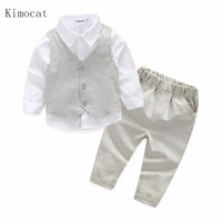 Spring Gentleman Boy Clothes Clothing Australia 2017 Spring Child Country Clothing Set Boys Vest Formal Suit