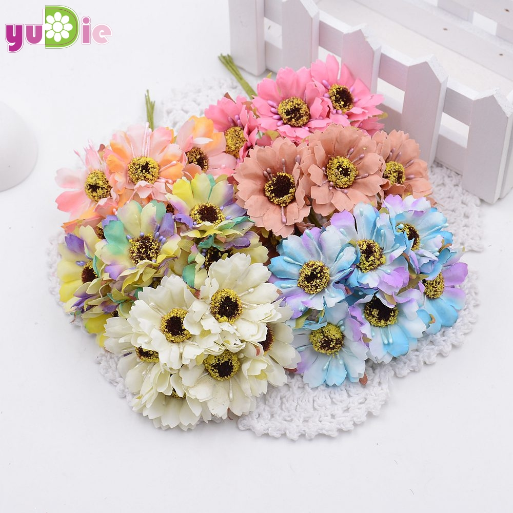 6pcslot Silk Flowers Artificial Flowers Simulation High Quality