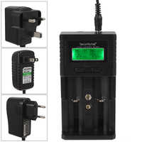 SecurityIng LCD Display UK US EU Battery Charger for Li-ion Ni-MH 18350 18650 16340 22650 26650 AA AAA Rechargeable Batteries