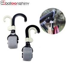 BalleenShiny 2 шт. крюк для детской коляски, аксессуары для детской коляски, держатель для покупок, держатель для детской коляски, вешалка для коляски