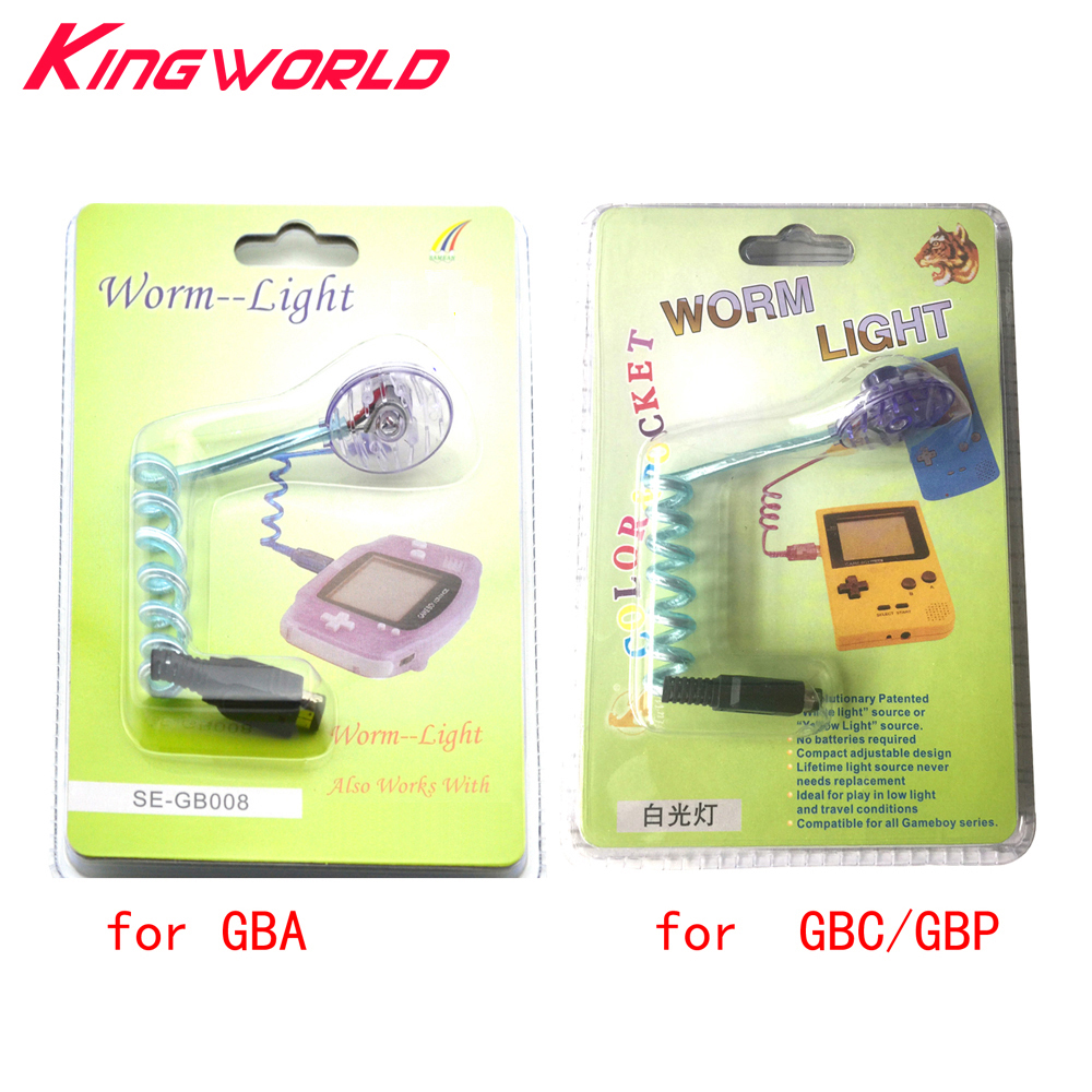 Xunbeifang Worm Light Illumination LED Lamps for Nintendo Gameboy Advance for GBA GBP GBC Game Console with packing