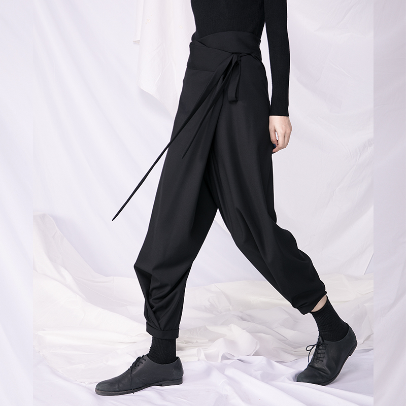 Casual-Pants Yamamoto-Style Loose Design Fashionable New And Woman Irregular Sense Bandwidth