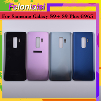 battery samsung galaxy 10Pcs/lot For Samsung Galaxy S9 Plus G965 G965F G9650 SM-G965F Housing Battery Door Rear Back Glass Cover Case Chassis Shell (2)
