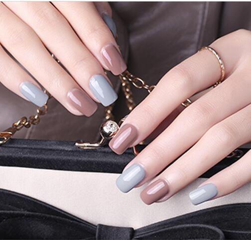 Bukio Beauty 29 Colors Ordinary Gel Nail Polish Semi Permanent Led Gel Lacquer Long-Lasting Glitter Nail Gel Polish Need UV Lamp