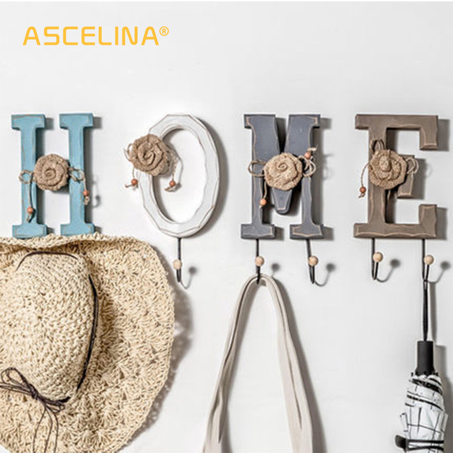 Hanging wall hanging porch door room living room creative personality letter numeral hanging key frame door wall decoration hook