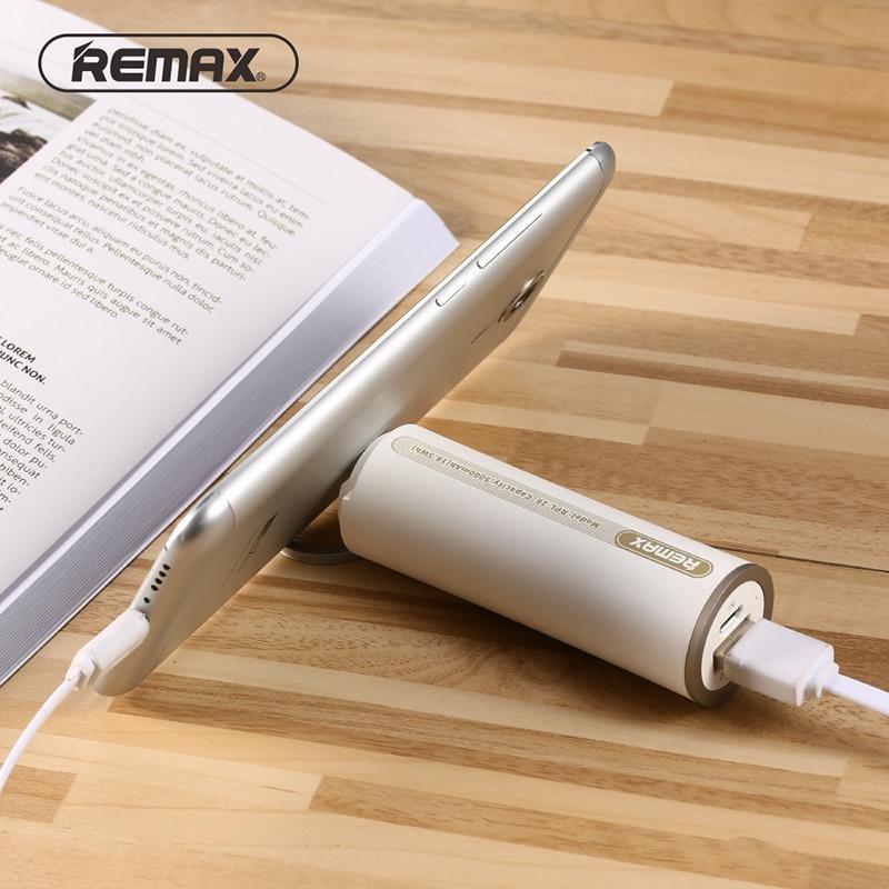 imágenes para Remax 5000 mah banco de la energía del anillo de dedo de la manera de copia de seguridad de batería externa del banco de potencia paquete de energía de reserva de emergencia adicional rpl-26