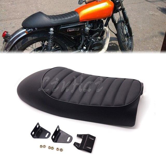 Black Vintage Hump Cafe Racer Seat For Honda CB200 CB350 CB400 CB500 CB550 CB750