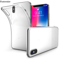 50pcs Transparent case For iPhone X Silicone Clear Soft TPU cases For iPhone XS Max XR Ultra Crystal Full Protective Back Cover