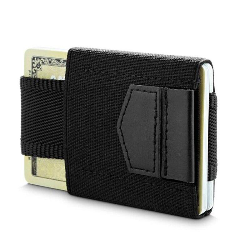 Minimalista Carteira Mini Bolsa de Cartão de Crédito ID Titulares Titular do Cartão Pequeno Elástico Fino