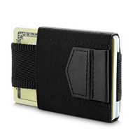 Mini Credit Card Protector Slim Leather Carte Wallet Elastic Business Card Holder Coins Purse ID Card