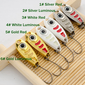 Image 4 - 6Pcs Mini Metal Lure 1.5g 3g 5g Hard Bait Red Point Luminous 6 Colors Fly Fishing Tackle Wobblers isca artificial Spoon Fishing