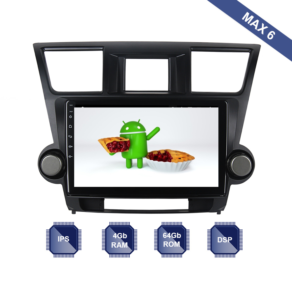 Android 9 0 Car Radio 2 Din GPS Navi for Toyota Highlander 2009 2010 2011 2012