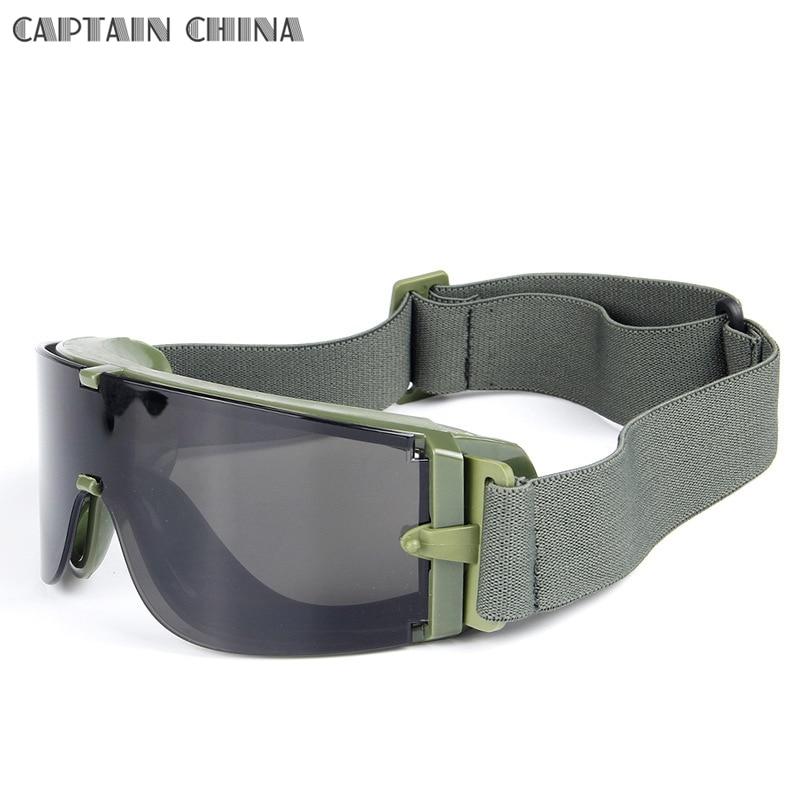Black Tan Green Military Tactical Gogle Airsoft Okulary Outdoor - Ubrania sportowe i akcesoria - Zdjęcie 6