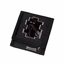 Zshop Computer Game Minecraft font b Wallet b font Enderman Oxford Black Short font b Purse