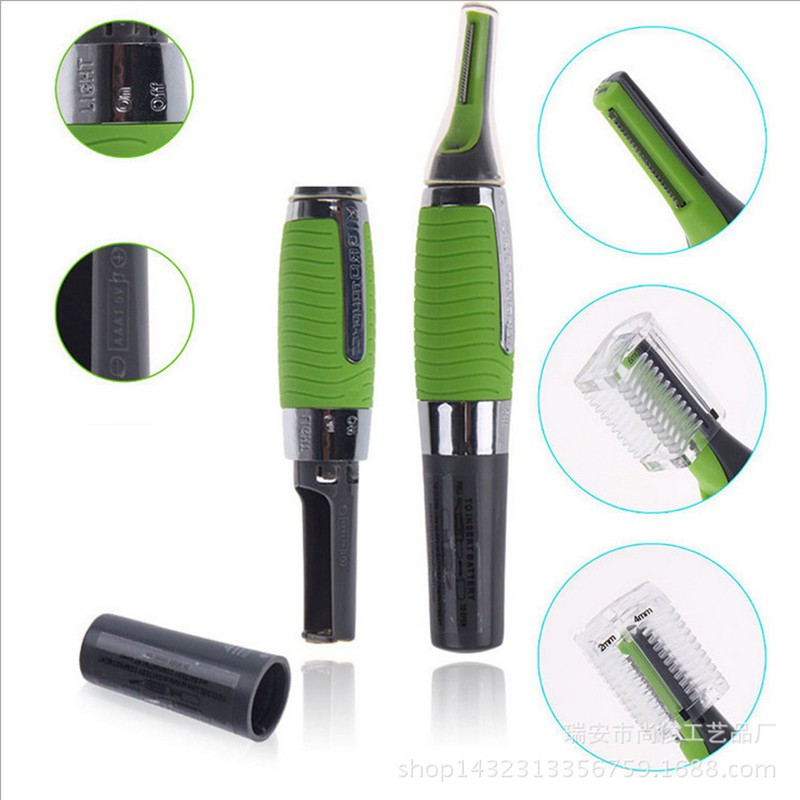 Micro Precision Eyebrow Ear Nose Trimmer Removal Clipper Shaver Personal Electric Face Care Hair Trimer With LED Light  цена