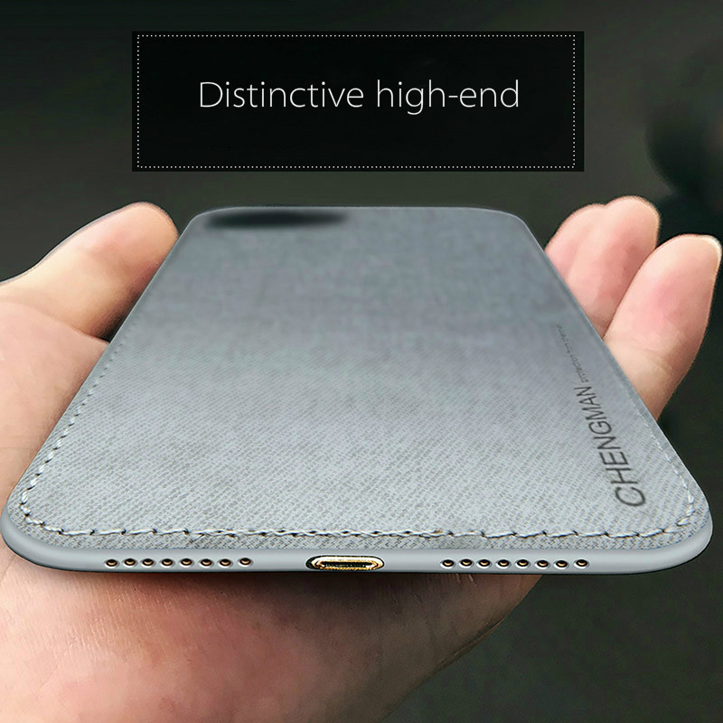 Vintage Ultra Slim Business Fabric Soft Cloth Protect Phone Cases For iPhone 5
