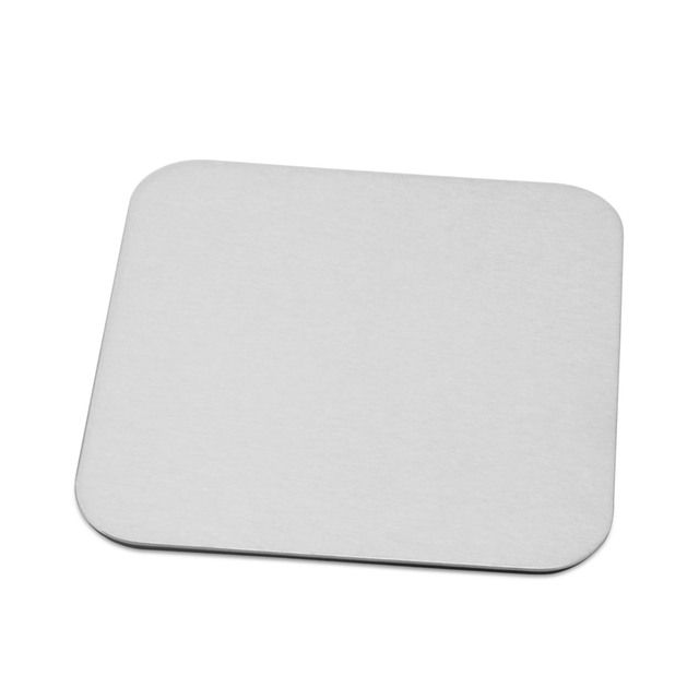 Placemat Fashion Stainless Steel Dining Table Mat Disc Pads Bowl Pad - Square table pad