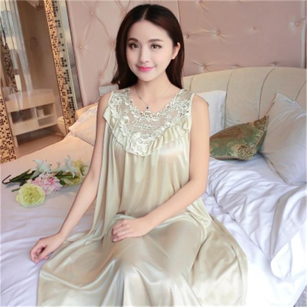 Hot Women Night Gowns Sleepwear Nightwear Long Sleeping Dress Luxury Nightgown Women Casual Night Dress Ladies Home Dressing Z79 11